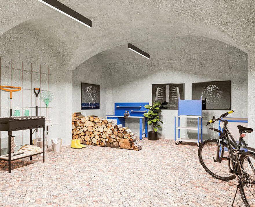 Garage or large storage space