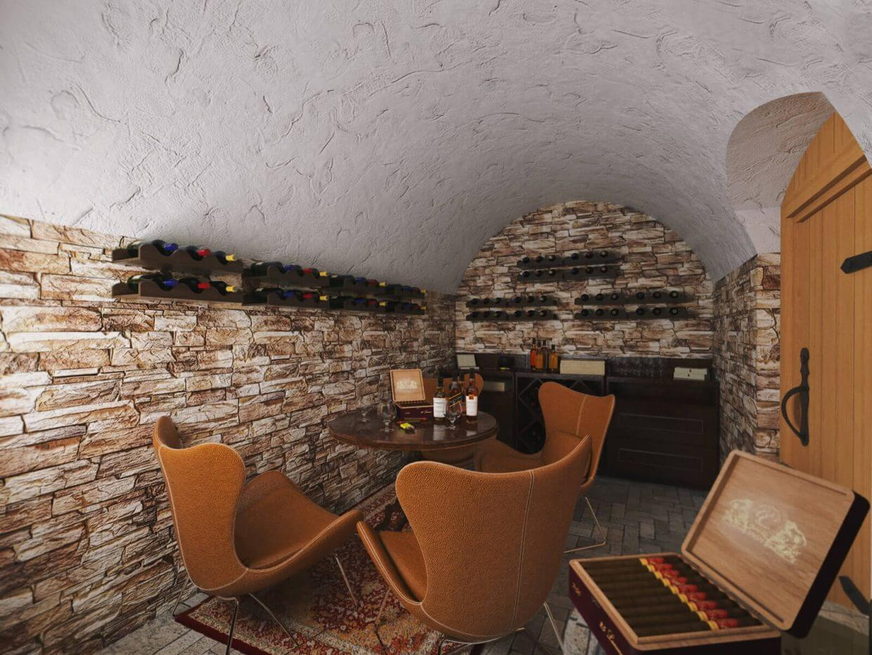 Cigar and cognac lounge