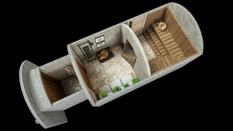 Sauna 11.7 m² STANDARD PACKAGE